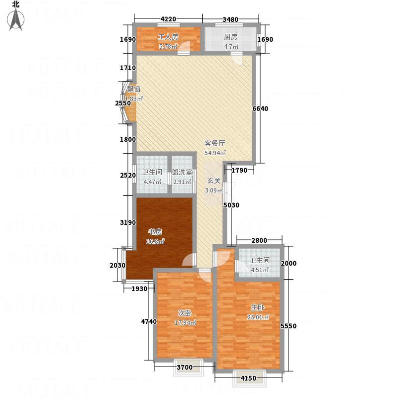 东岸花园11.70㎡1户型4室2厅2卫1厨