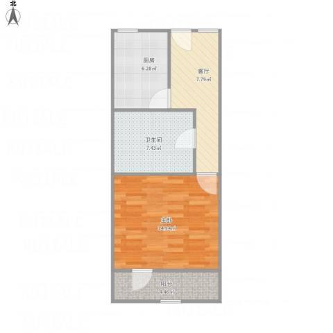 彭浦新村1室1厅1卫1厨56.00㎡户型图
