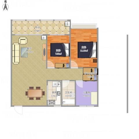 雅居苑3室1厅1卫1厨120.00㎡户型图