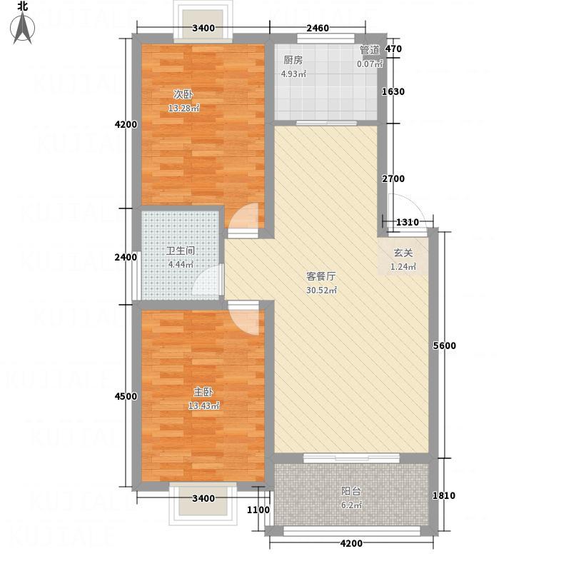 森林美辰3.80㎡C户型2室2厅1卫