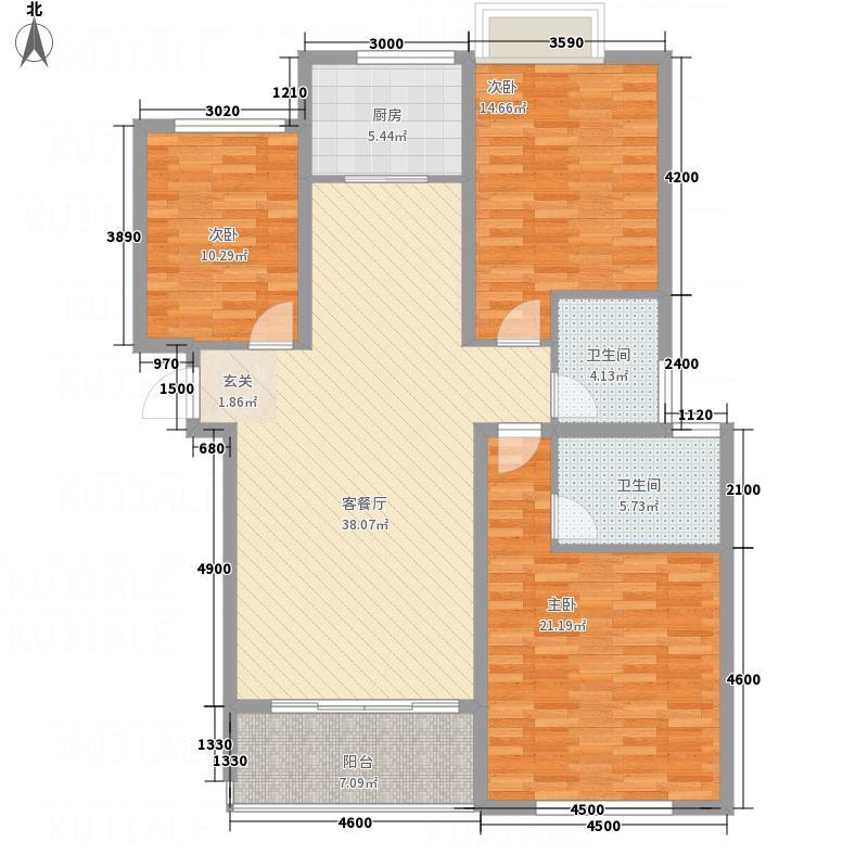 同馨花园雍豪府15.00㎡17#B1户型3室2厅2卫1厨