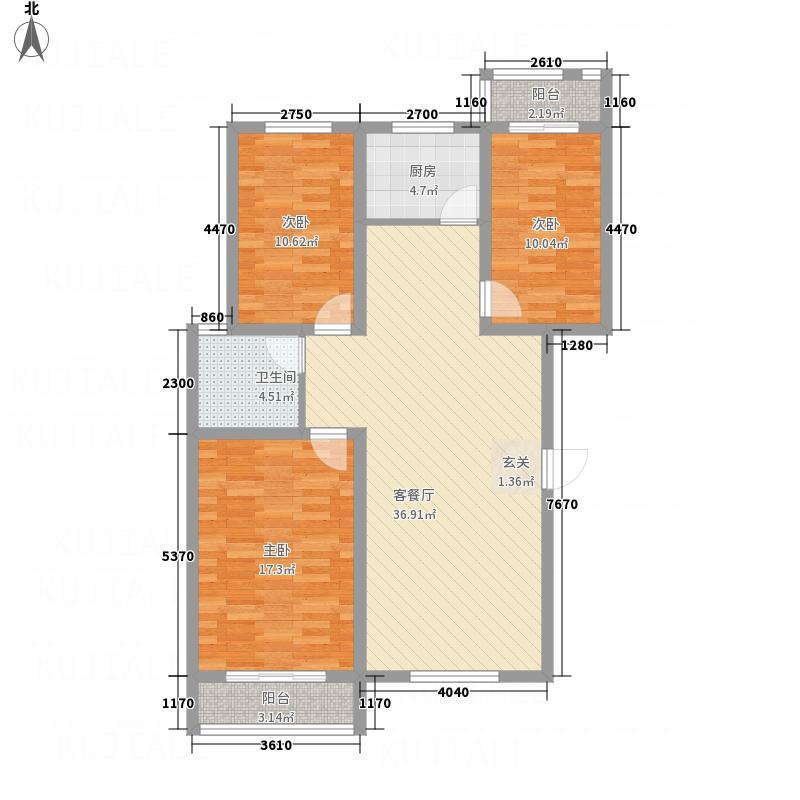 法姬娜商业街127.45㎡4户型3室2厅1卫1厨