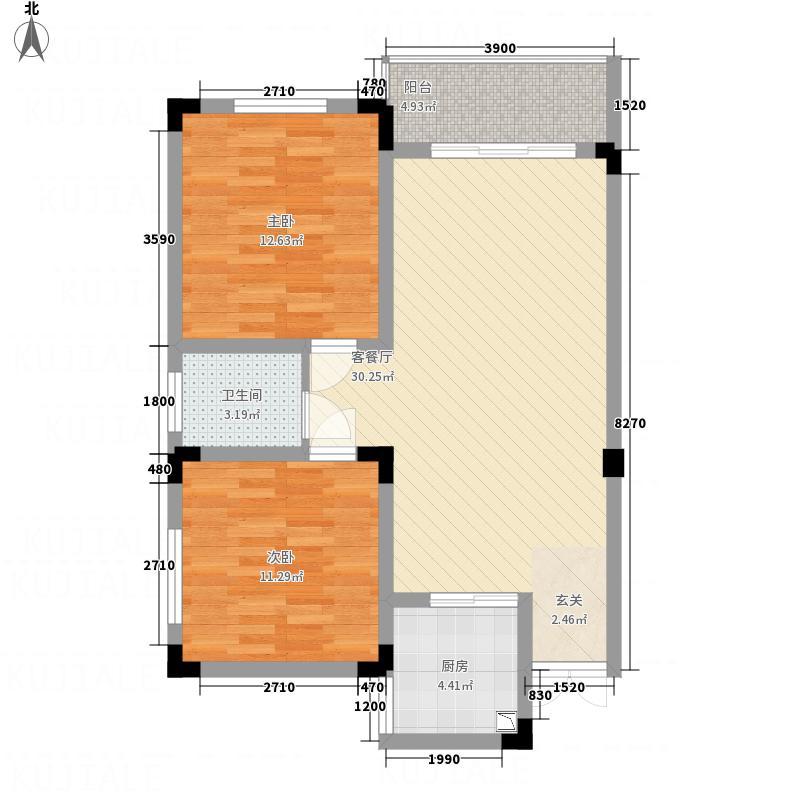 德福中央城户型2室