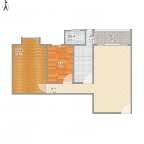 富达花园3041室1厅1卫1厨67.00㎡户型图