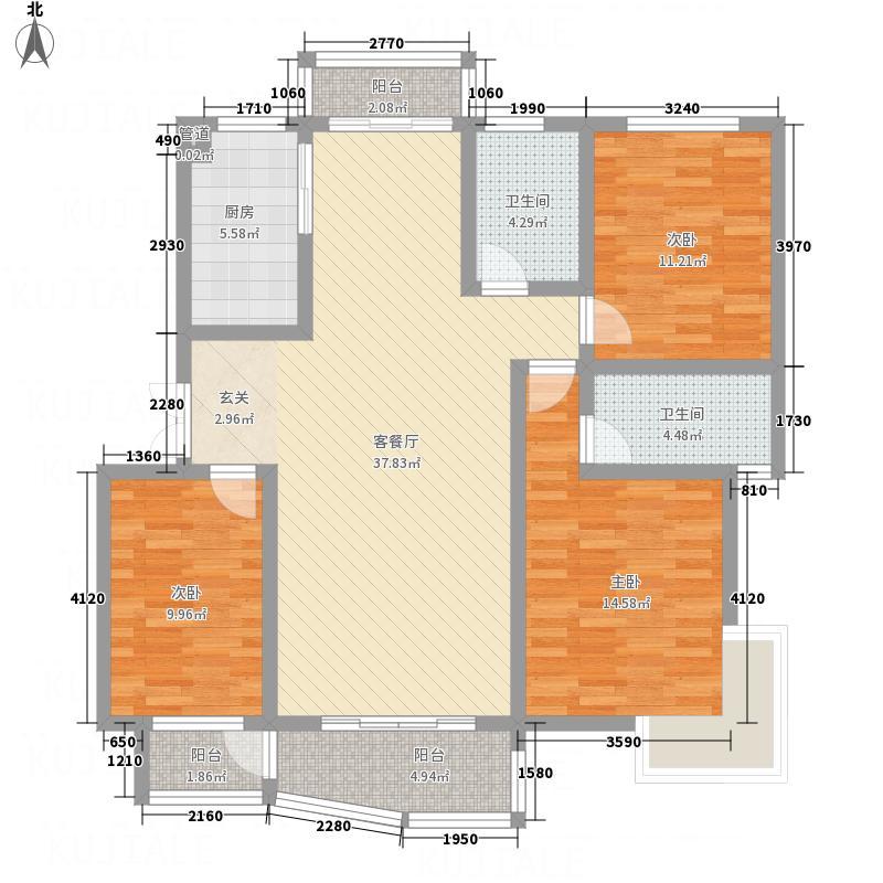 广成东方名城127.81㎡户型3室