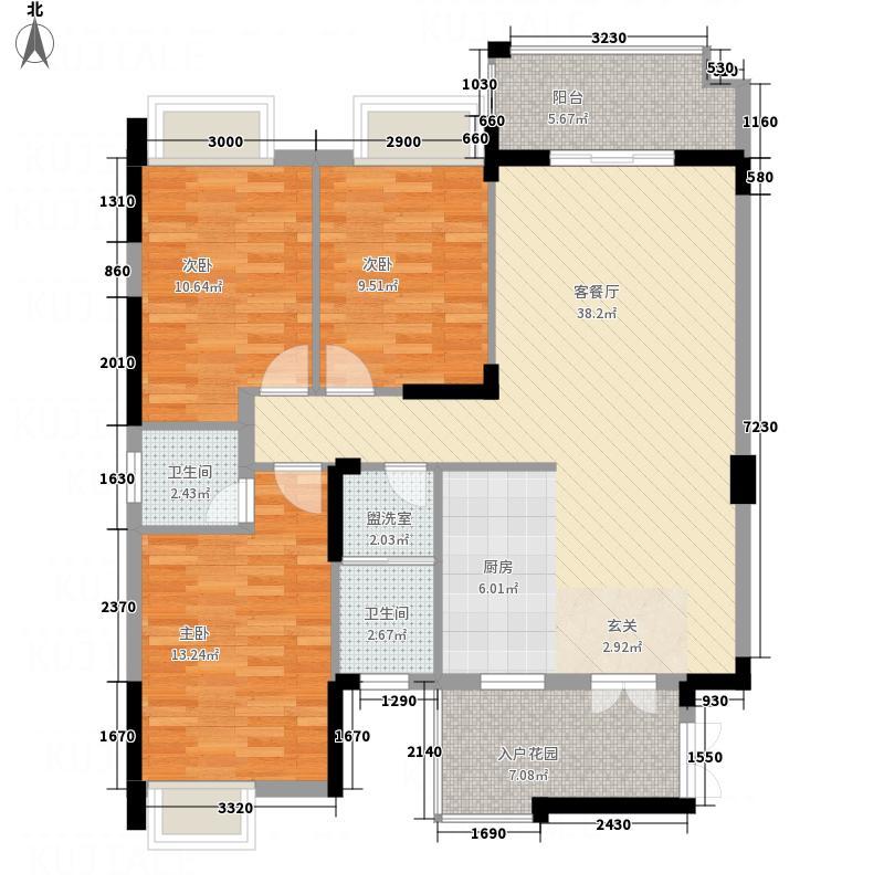 万和世纪城33212.65㎡户型3室2厅2卫1厨