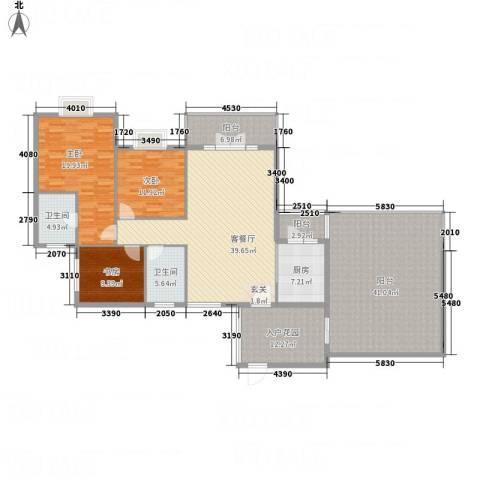 和诚家园3室1厅2卫1厨222.00㎡户型图