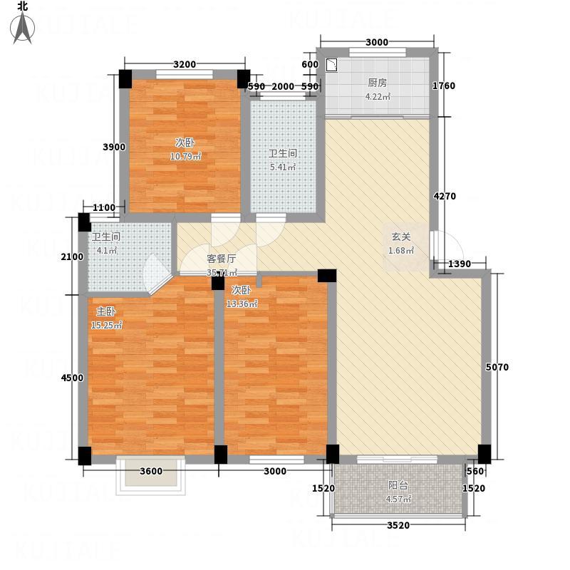 晶体管厂宿舍75.00㎡户型3室