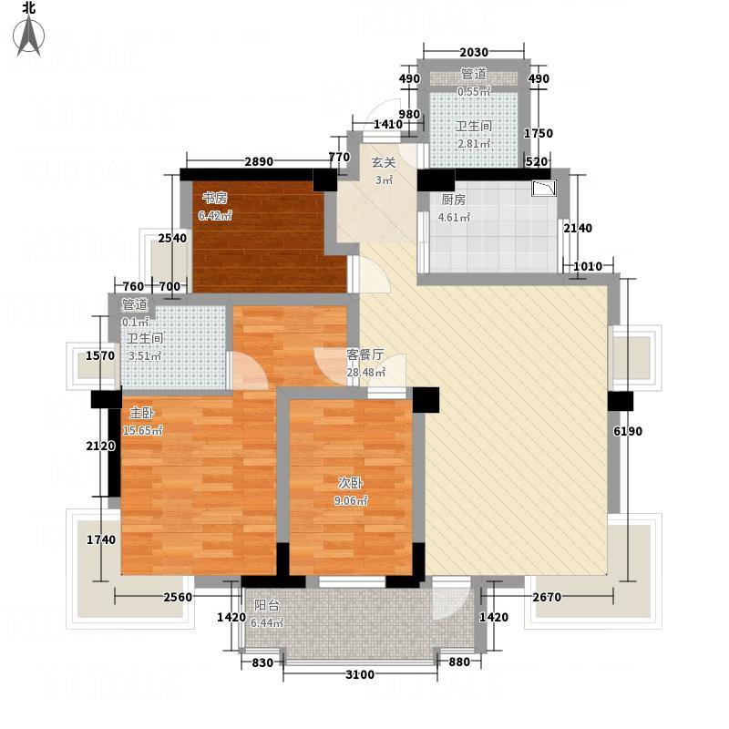 桂鑫园114.70㎡G4-3户型3室2厅2卫1厨
