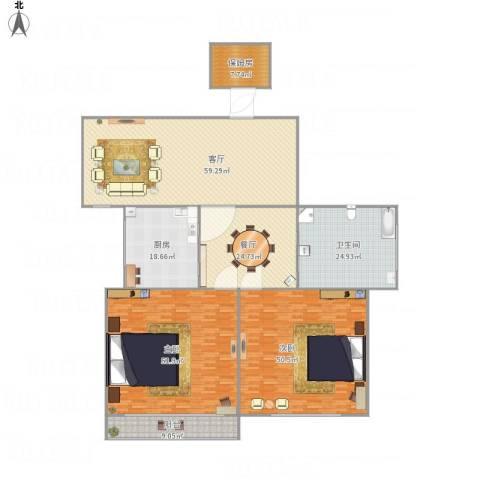 博山小区2室2厅1卫1厨322.00㎡户型图