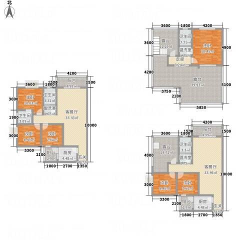 同立紫郡玫瑰园6室5厅4卫2厨346.00㎡户型图