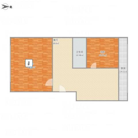 志成东里2室1厅1卫1厨237.00㎡户型图