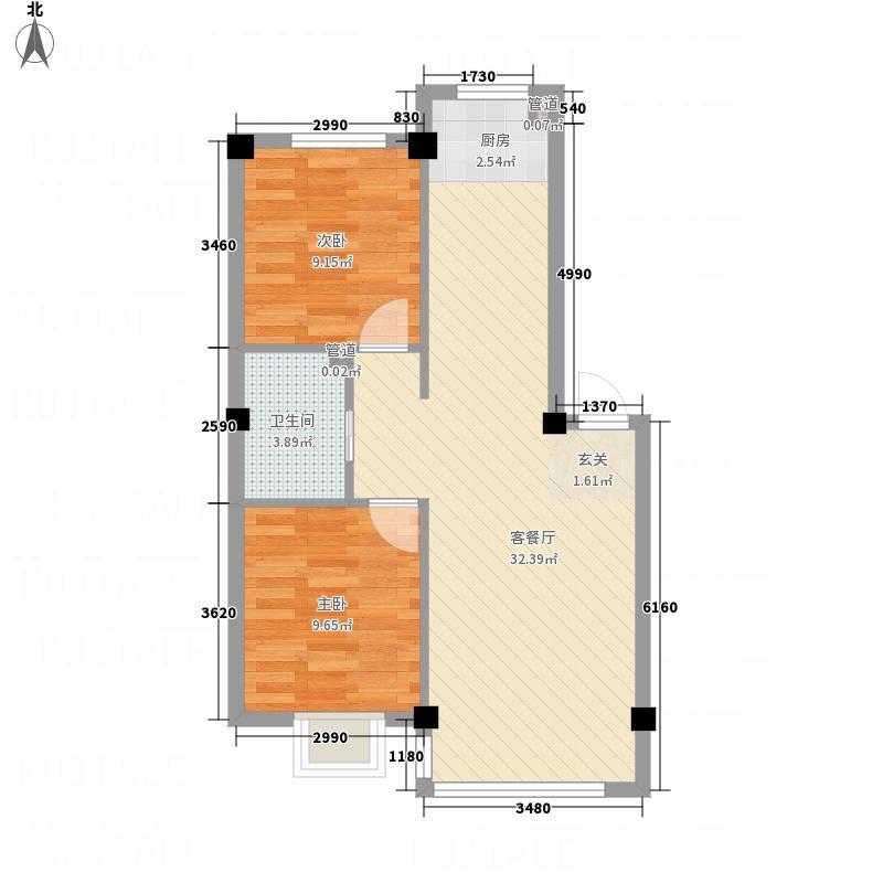 佳惠・幸福家园78.00㎡户型2室1厅1卫1厨