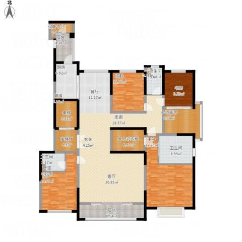 西派国际4室1厅3卫1厨269.00㎡户型图