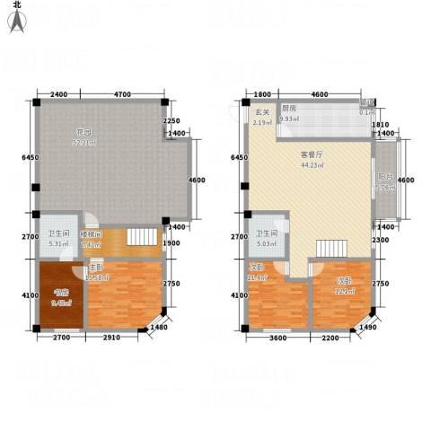 SOLO自由城4室1厅2卫1厨177.85㎡户型图