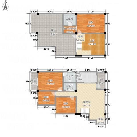 SOLO自由城4室1厅3卫1厨205.94㎡户型图