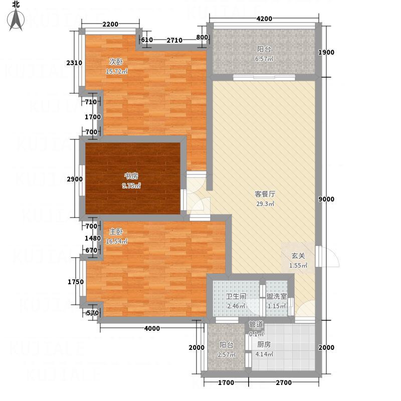 一里香堤1.10㎡C户型3室2厅1卫