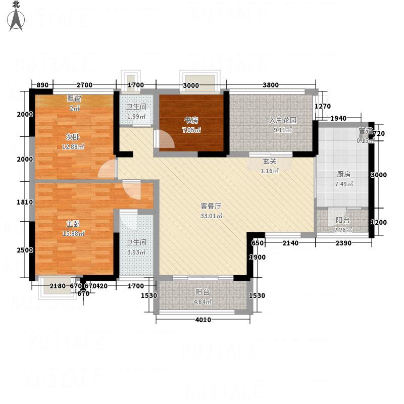 双龙花园户型3室