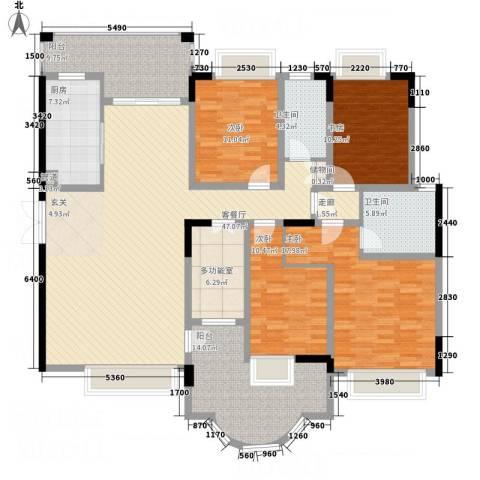 锦绣江山4室1厅2卫1厨191.00㎡户型图