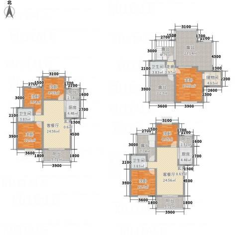 同立紫郡玫瑰园6室2厅3卫2厨306.00㎡户型图
