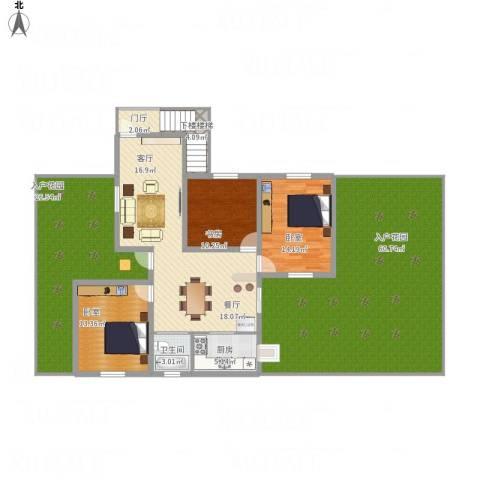 大桥局宿舍1室1厅1卫1厨237.00㎡户型图