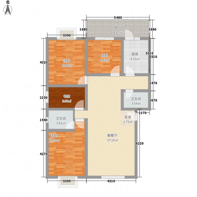 锦都园143.00㎡户型4室2厅2卫1厨