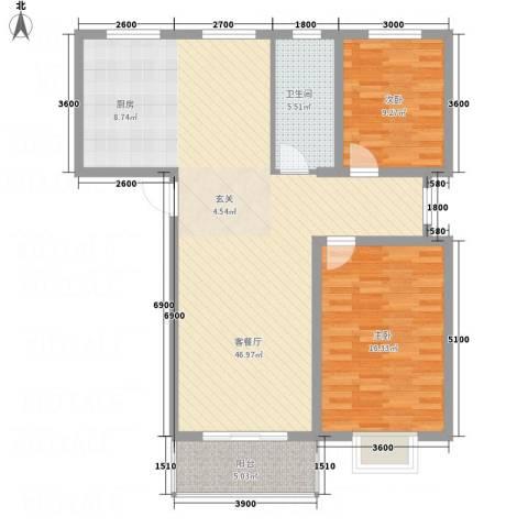 伯爵山庄2室1厅1卫0厨83.11㎡户型图