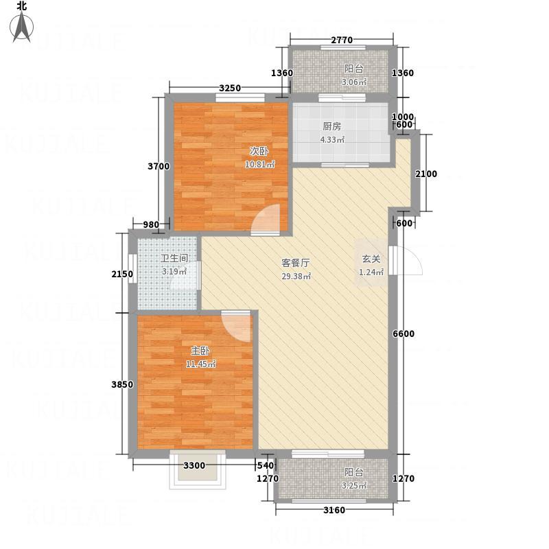 银河领域3#楼两居户型