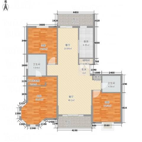 皇家花园3室1厅2卫1厨162.00㎡户型图