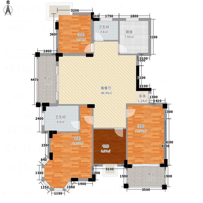 中都・章江豪园12―A户型4室2厅2卫1厨