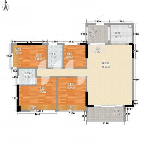 华禧汇4室1厅2卫1厨137.00㎡户型图