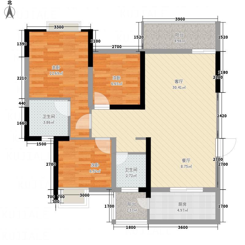 广安公园里户型3室2厅2卫1厨