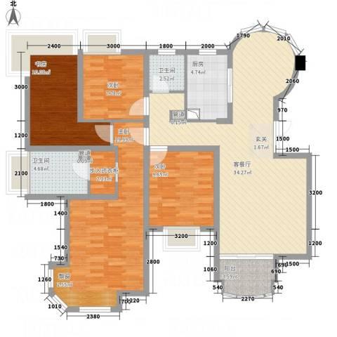 世纪中央城4室1厅2卫1厨99.74㎡户型图