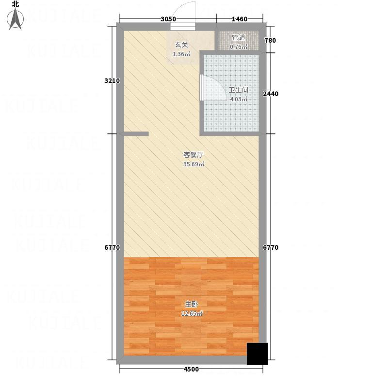 世茂天际中心橡树公馆户型图橡树公馆B户型20140225 1室1厅1卫1厨