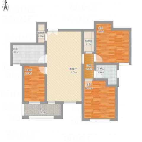 君临华庭13室1厅1卫1厨115.00㎡户型图