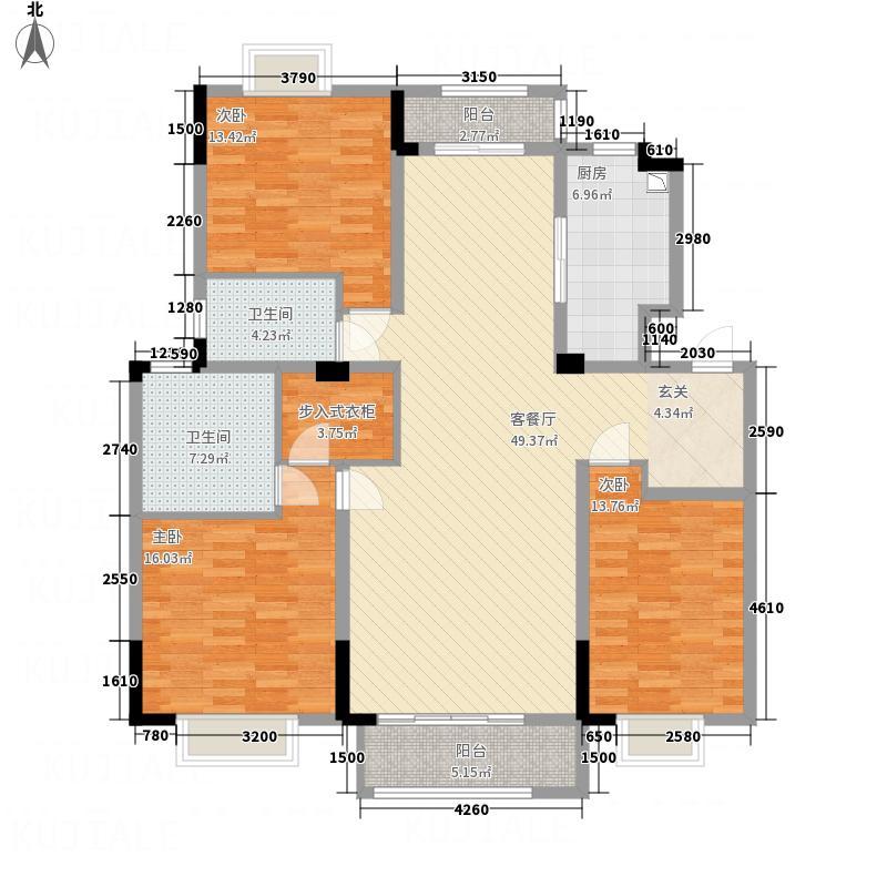 海亮御园海亮御园户型图高层(3)3室2厅2卫1厨户型3室2厅2卫1厨