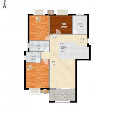 香水郡3室1厅2卫1厨153.00㎡户型图