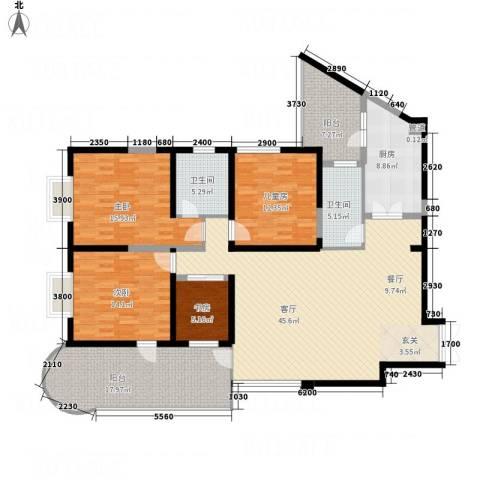 龙汇花园4室1厅2卫1厨162.00㎡户型图