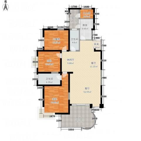 龙汇花园3室1厅2卫1厨137.75㎡户型图