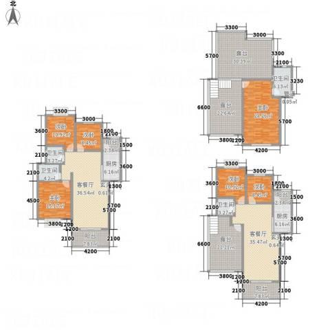 同立紫郡玫瑰园6室2厅4卫2厨393.00㎡户型图