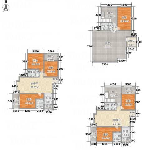 同立紫郡玫瑰园6室5厅5卫2厨444.00㎡户型图