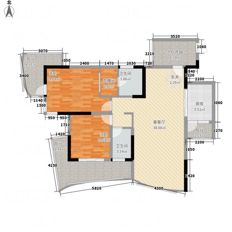 美丽新城户型2室