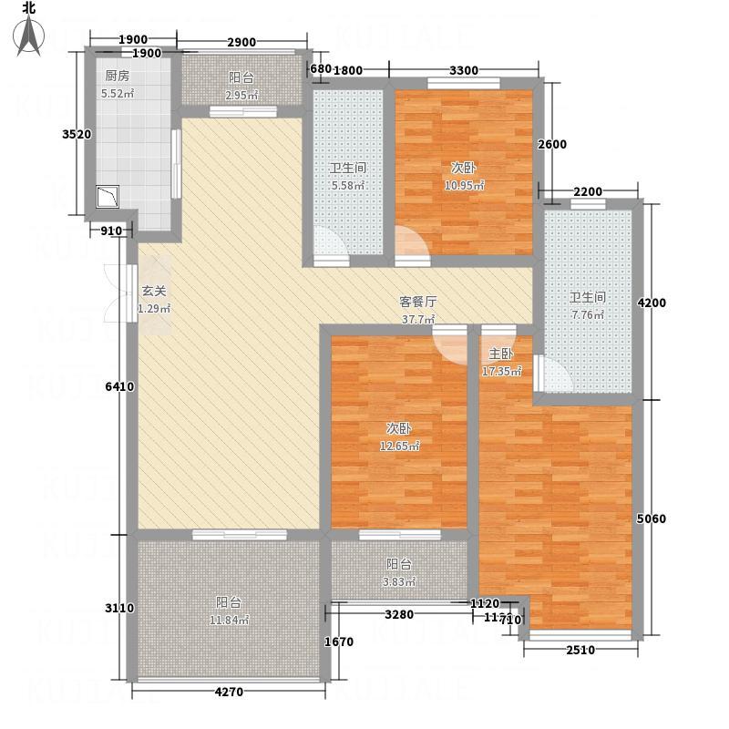 中悦水晶城3-c户型3室2厅2卫