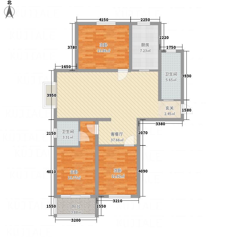 德富悦城12.00㎡户型3室2厅2卫1厨