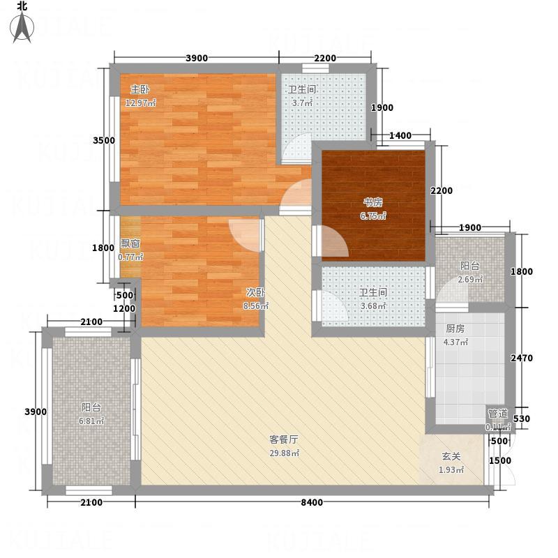 鸿升・凯旋门13.18㎡DM-10-29户型