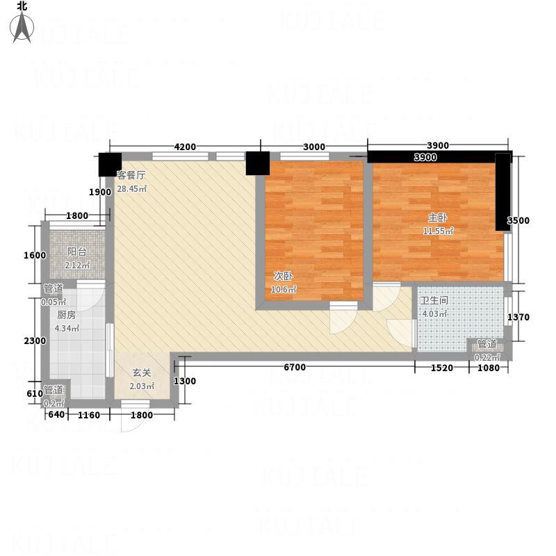 富丽国际87.00㎡富丽国际户型图3-A2户型2室1厅1卫1厨户型2室1厅1卫1厨