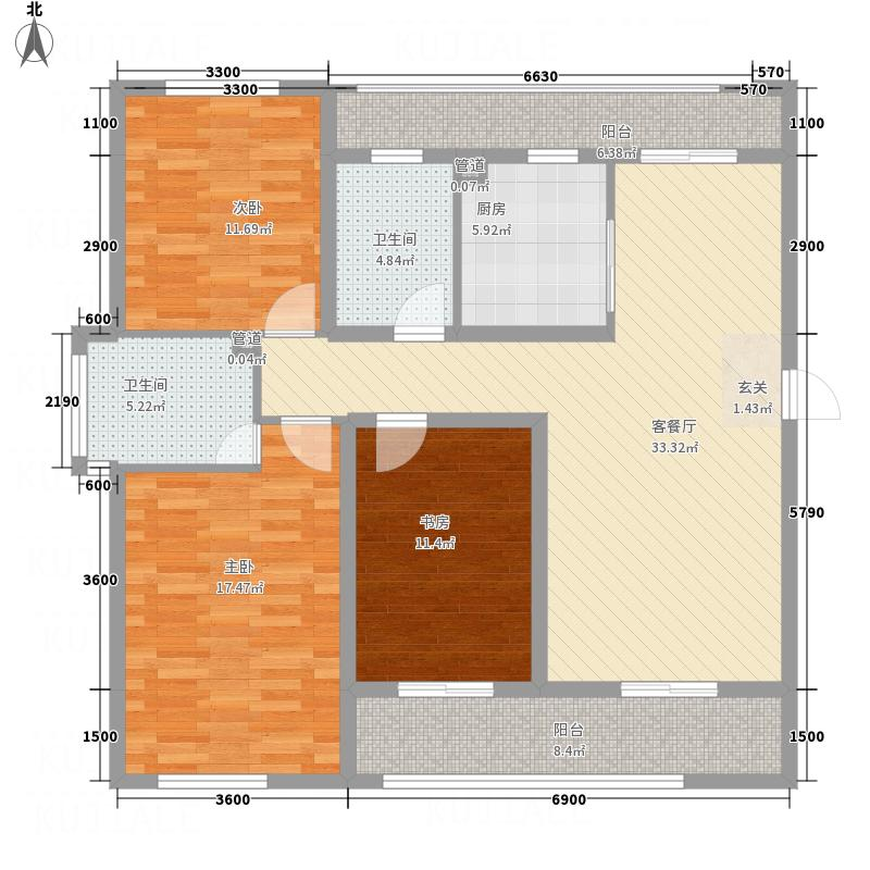 民安小区2户型2室2厅1卫1厨