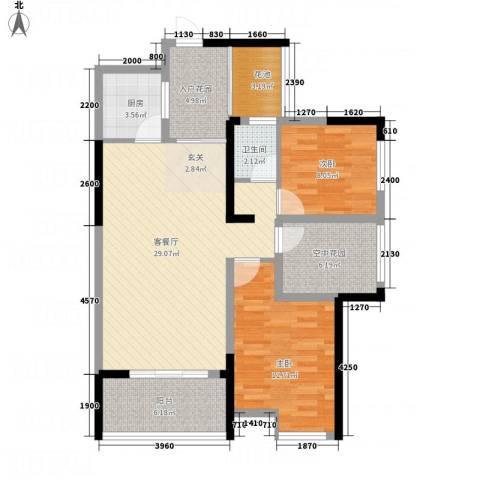 东信华府2室1厅1卫1厨529.00㎡户型图