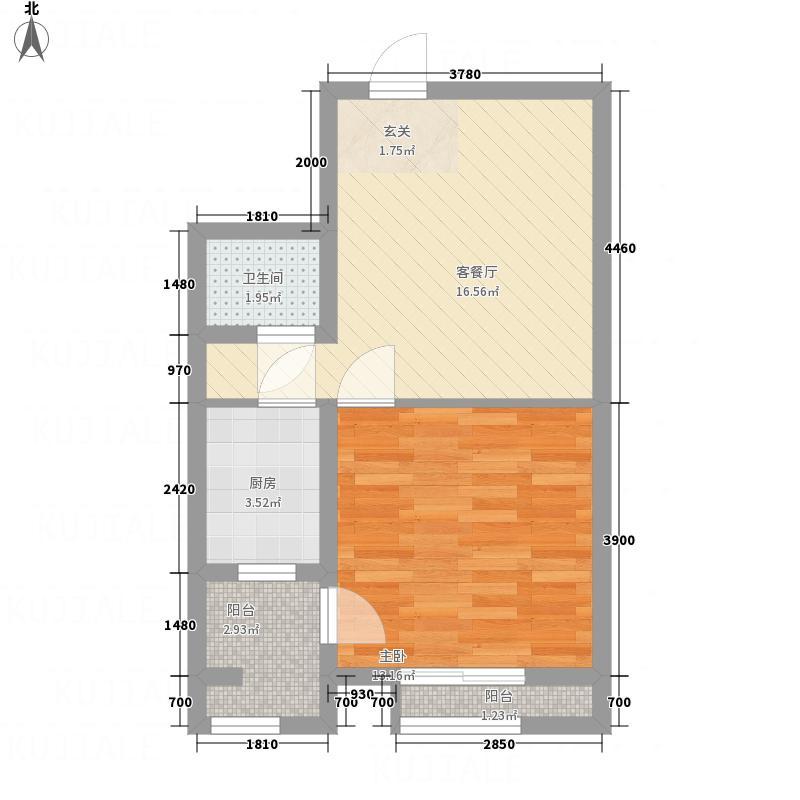恒顺世纪中心6.40㎡2#楼C户型1室1厅1卫