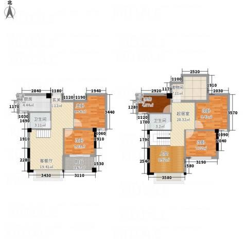 东方领秀5室1厅2卫1厨118.00㎡户型图